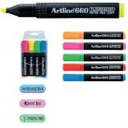 Textmarker fluorescent ARTLINE 660 4 buc/set