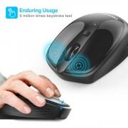 TeckNet M005 2.4G Wireless Mouse - малка безжична мишка (за Mac и PC) (черна)
