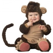 InCharacter Costumes Baby's Lil' Monkey Costume Brown/Tan 6-12 Months