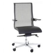 Ofisillas Silla de oficina YANG 10, diseño espectacular piel real y malla, negro