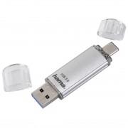 USB памет HAMA Тип USB-C Laeta 124163, 64GB, USB 3.1 Type-C, Сребрист HAMA-124163