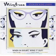 Mintree Stick-On Wing Eyeliners Classic Black Disco Silver