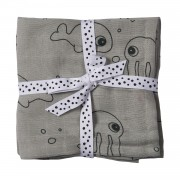 Done by Deer Sea Friends Hydrofiel Luiers Grey 2 Stuks