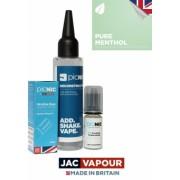 Pachet 60ml Lichid Tigara Electronica Premium Jac Vapour Pure Menthol, Nicotina 3mg/ml, 80%VG 20%PG, Fabricat in UK, DiY