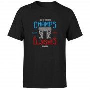 The Broom Wagon Champs Elysees Men's T-Shirt - Black - M - Black