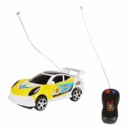 Remote Control Racing Car with 3D Lights for Kids/Children Yellow