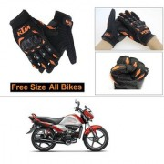 AutoStark Gloves KTM Bike Riding Gloves Orange and Black Riding Gloves Free Size For Hero Splendor I Smart