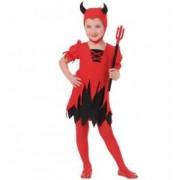 Costum Diavolita Copii Halloween Widmann 2 - 3 ani 104 cm