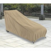 Classic Accessories Terrazzo Patio Chaise Lounge Cover - Medium, Sand (Brown), 65 Inch L x 28 Inch W x 29 Inch H, Model 58952