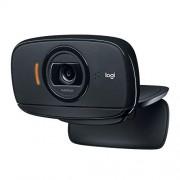 Logitech C525 Mobile HD-webcam met snelle autofocus en volledige 360 graden draaibare draaiknop, zwart