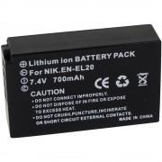 Baterija za kameru Conrad energy 7.4 V 700 mAh zamjenjuje originalnu bateriju EN-EL20