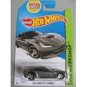 2014 Hot Wheels Hw Workshop - 2014 Corvette Stingray - Silver