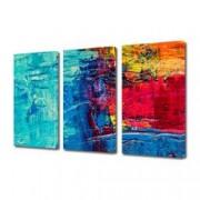 Tablou Canvas Premium Abstract Multicolor Culori Vibrante Decoratiuni Moderne pentru Casa 3 x 70 x 100 cm