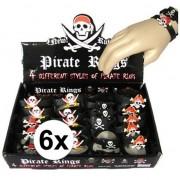 Geen 6x Piraten armbandjes voor kinderen