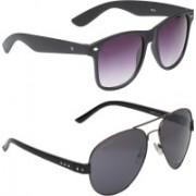 Vast Aviator, Wayfarer Sunglasses(Violet, Grey)