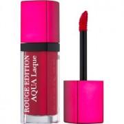 Bourjois Rouge Edition Aqua Laque barra de labios hidratante con brillo intenso tono 07 Fuchsia Perche 7,7 ml