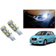 Auto Addict Car T10 9 SMD Headlight LED Bulb for Headlights Parking Light Number Plate Light Indicator Light For Datsun Go