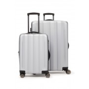 CALPAK LUGGAGE Zyon 2-Piece Hardside Luggage Set SILVER