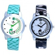 Black And Green Lite Feathers Party Wadding Designer Watch For Women