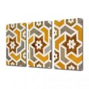 Tablou Canvas Premium Abstract Multicolor Flori Geometrice Decoratiuni Moderne pentru Casa 3 x 70 x 100 cm