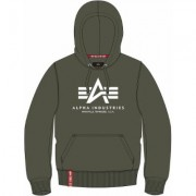 Alpha Industries Basic Felpa con cappuccio Bianco Verde 2XL