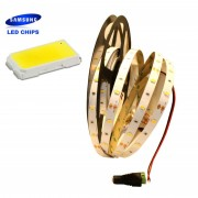 Striscia a Led Chip Originale Samsung SMD5630 30led/mt IP20 da Interno Bianco Naturale 4000K 5MT
