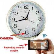 M MHB WiFi Wall Clock Hidden Spy Camera directly seen on your mobile with recording in mobile with high-definition video by WIFI Mobile phone Anytime Anywhere.original brand Sold by M MHB