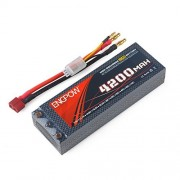 RCRunning Lipo Battery 7.4V 25C 4200mAh with T Plug Connector Wild Scorpion Rechargeable Batteries for RC 1:10 1:10 Drift Car Flat Car