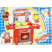 Játékkonyha fénnyel és hanggal - piros, 75 cm - Konyhák