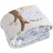 Baby DIB Cobertor 90X120 Buho Celeste