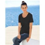 swiss+cotton Kurzarm- oder Langarm-Basic-Shirt swiss+cotton, Kurzarm - 42 - Schwarz