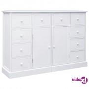 vidaXL Komoda s 10 ladica bijela 113 x 30 x 79 cm drvena