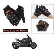 AutoStark Gloves KTM Bike Riding Gloves Orange and Black Riding Gloves Free Size For Ducati Diavel