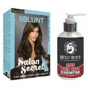 MISTER BEARD ANTI HAIR FALL SHAMPOO WITH BBLUNT NATURAL BROWN (4.31) HAIR COLOUR