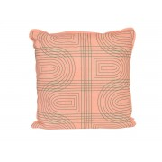Pt Sierkussen Retro Grid vierkant - Peach Pink