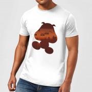 Nintendo Super Mario Goomba Silhouet Heren T-shirt - Wit - M - Light Grey