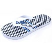 șlapi femei - Check Strip - SANTA CRUZ - WB