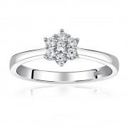 Silvego Zásnubní stříbrný prsten FLORINA s Brilliance Zirconia - JJJR2338R
