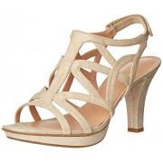 Naturalizer Women's Danya Platform Dress Sandal, Taupe/Gold, 11 N US