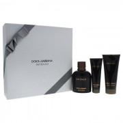 :DOLCE & GABBANA: Dolce & Gabbana Pour Homme Intenso 125ml woda perfumowana + 100ml balsam po goleniu + 50ml żel pod prysznic [M] ZESTAW
