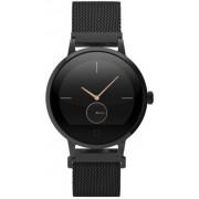 "Smartwatch E-Boda STime Raven, Ecran IPS 1.22"", 64MB RAM, 128MB Flash, Bluetooth, Rezistent la apa, Curea metalica (Negru)"