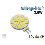 Ampoule led G4 15 led SMD 5050 blanc naturel 12v ref g4-01
