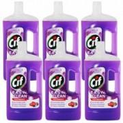 Pachet 6 bucati - Cif Profumo di lavanda Easy Clean Solutie pentru curatat pardoseli Lavanda 6x 1000ml