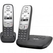 Gigaset Bezdrátový analogový telefon Gigaset A415A Duo, černá