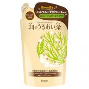 KRACIE «Umi No Uruoiso» Бальзам-ополаскиватель для ухода за кожей головы, с экстрактами морских водорослей, сменная упаковка, 420 мл.