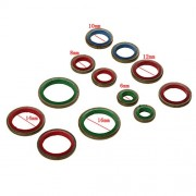 ELECTROPRIME 100pcs 6mm-16mm Oil Fuel Pipe Sealed Connector Gasket Joint Sealing Rings