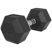 Gorilla Sports Dumbell 17,5 kg - Gietijzer met rubberen coating - Gorilla Sports