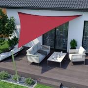 Jarolift Voile d'ombrage triangulaire, imperméable, rouge, 500x500x500 cm