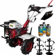 Pachet motocultor Media Line 7100/5 CFB 7 CP latime de lucru 80 cm roti cauciuc freze lucru rarita 3l ulei AgroPro