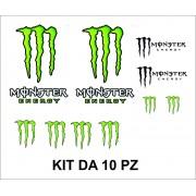 Adesivi Monster Energy kit da 10 pz